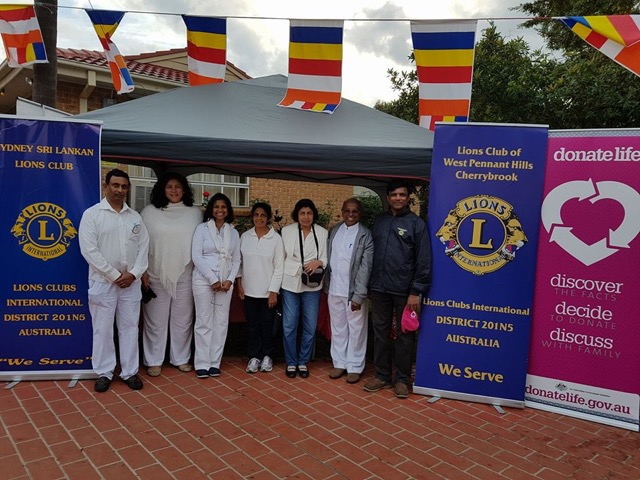 Photo of the Stall with Lions and Organ Donation Authority Staff
